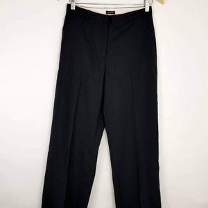 J Crew Black Wool Slacks Career Size 4 - F1